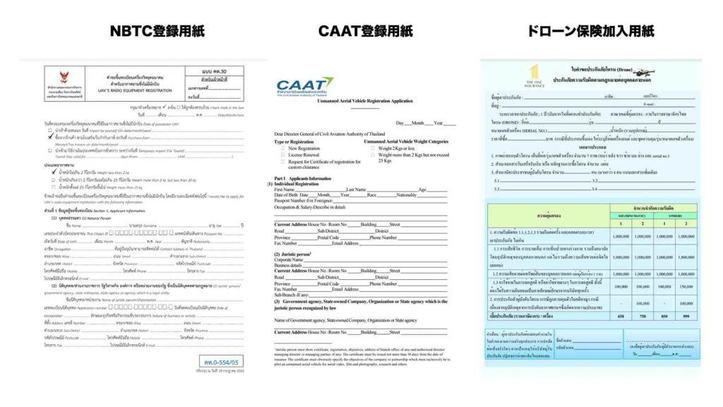 ドローン申請に必要な各種書類